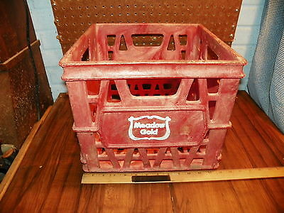 Vintage MEADOW GOLD DAIRY Structo-Cell Plastic Milk Bottle Crate  - Advertising