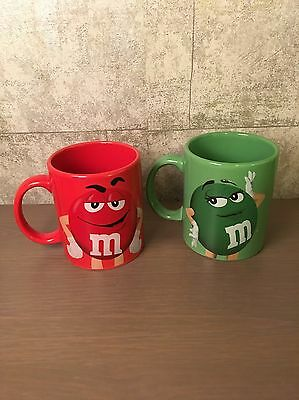 Officially Licensed  M&M'S  Red & Green Character Coffee Cup Mug RARE MARS 2014