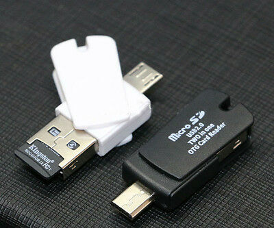 2-in-1 Micro sd OTG Card Reader Micro usb OTG TF/SD Card Reader For Phone PC
