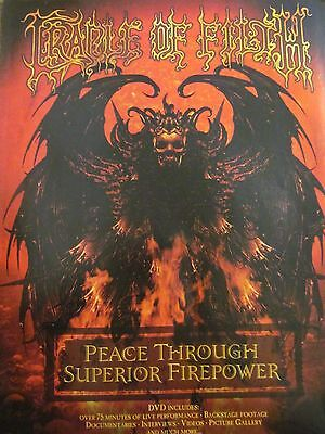 Cradle of Filth, Peace Through Superior Firepower, Full Page Promotional Ad