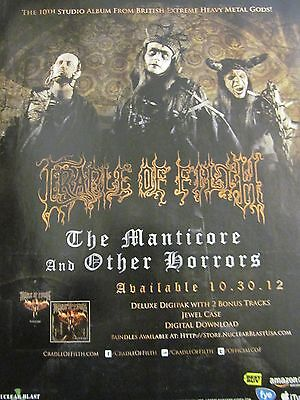 Cradle of Filth, The Manticore and Other Horrors, Full Page Promotional Ad
