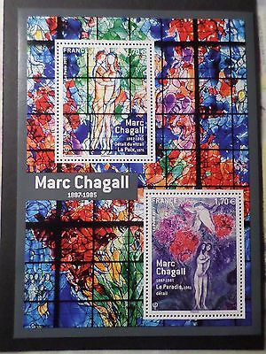 FRANCE 2017 BLOC timbres TABLEAUX CHAGALL, ART, PAINTING, neuf**, MNH STAMP
