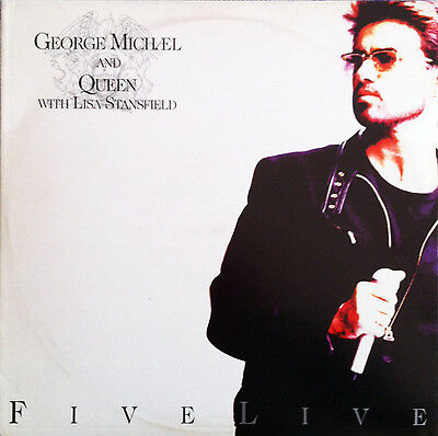 "George Michael/queen/l.stansfield Lp 33 Vinyl 12"" Ep ""five Live"" 1993 Italy Ex"