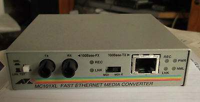 2 x AT-MC101XL Fast Ethernet 100BASE-TX to 100BASE-FX (ST) Multi-Mode