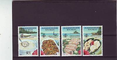a121 - ZIL ELWANNYEN SESEL - SG202-205 MNH 1989 CREOLE COOKING