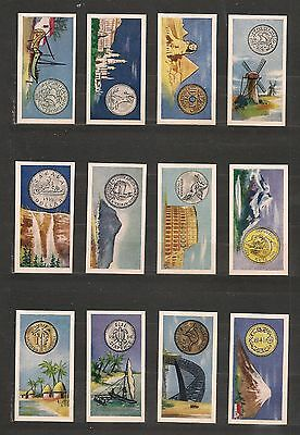 Complete set of 25 tobacco cards/COINS OF THE WORLD/Mills/1961/UK