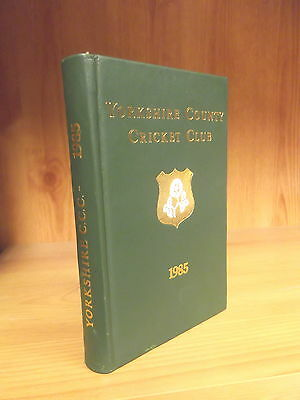 Leather-Bound Yorkshire County Cricket Club Yearbook 1985
