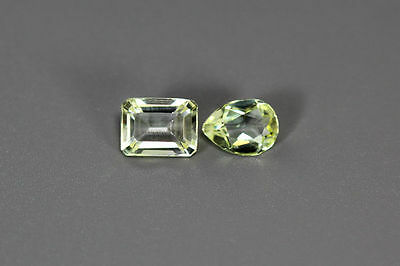 3.225Ct Dazzling Aaa Canary Yellow 100% Natural Heliodor Beryl Rare Pear Octagon