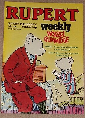 RUPERT BEAR WEEKLY COMIC NO. 53 DATED 19th OCTOBER 1983