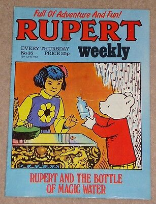 RUPERT BEAR WEEKLY COMIC NO. 35 DATED 15th JUNE 1983