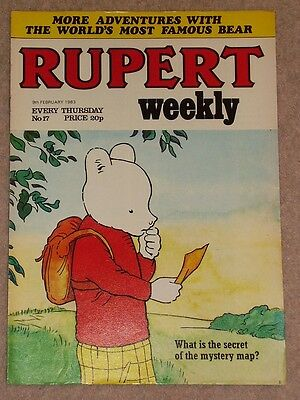 RUPERT BEAR WEEKLY COMIC NO. 17 DATED 9th FEBRUARY 1983