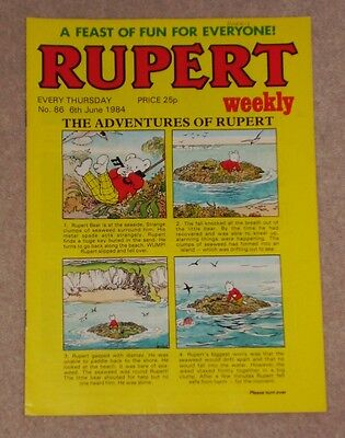 RUPERT BEAR WEEKLY COMIC NO.86 DATED 6th JUNE 1984