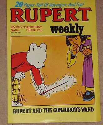 RUPERT BEAR WEEKLY COMIC NO. 34 DATED 8th JUNE 1983