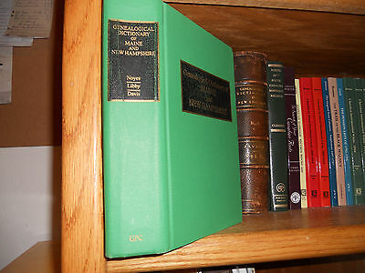 Genealogical Dictionary of Maine And New Hampshire Genealogy Book