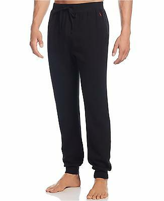 Polo Ralph Lauren Men's Black Waffle-Knit Thermal Jogger Lounge Pants, Medium