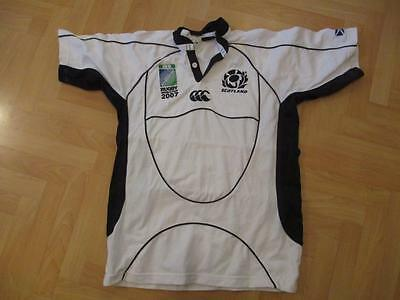 Scotland Canterbury World Cup 2007 Rugby away white shirt top adult size