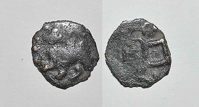 (8756) Chach AE coin, unknown domain, with camel and name Farnbag.