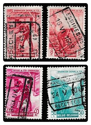 NO 416A - A Collection of  4 Railway Parcel Stamps from Belgium,1942 #35.used