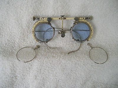 Optometrist Trial Frame.. Steampunk Style with colored and clear lenses