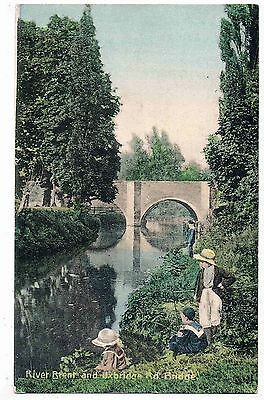 Middlesex -The Uxbridge Road Bridge Over The River Brent, Hanwell,w.london, 1906