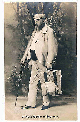 MUSICIAN - RPPC -DR. HANS RICHTER IN BAYREUTH,AUSTRIAN/HUNGARIAN CONDUCTOR,1900s