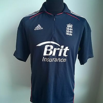 England 2010 T20 One Day Cricket Shirt Climacool Adidas Size Adult M