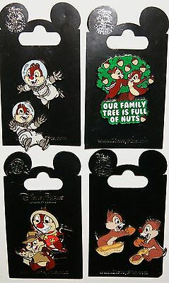 Disney Chip & Dale 6 Pin Lot Brand New On Original Cards 100% Authentic