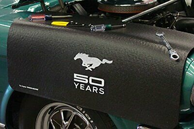 Ford Mustang 50 Years Black Non Slip Tool Grip Fender Cover Officially Licensed