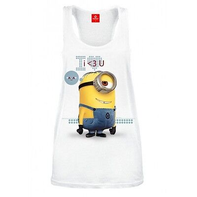 Despicable Me 2 Ladies Tank Top I 3 U Taglia:XL