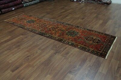 Antique Rare Design Runner Meshkin Karajeh Persian Oriental Area Rug Carpet 3X12