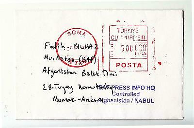 2002? TURKIS ARMY in AFGHANISTAN cover Cancel PRESS INFO HQ KABUL+RED POSTA-f508