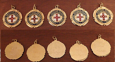 5 Yorkshire Amateur Swimming Association Medals - for the Mens Long Plunge
