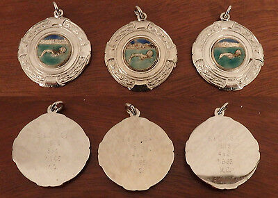 3 Sheffield Swimming/Diving Medals - engraved to the reverse