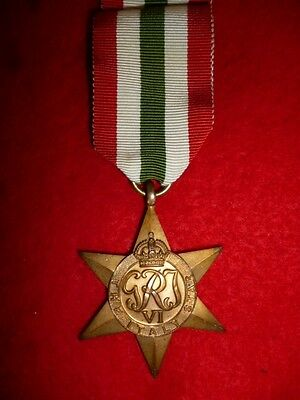 The Italy Star Medal WW2 - Genuine