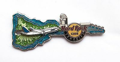 HRC Hard Rock Cafe Tenerife Airport Rock Shop Map Guitar with Slider Plane Pin