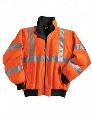 2 Heavyweight Safety Jackets Embroidered4Ur Construction Co. WHeavy Equipment