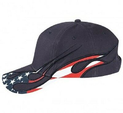 12 Hats With Flag In Flames Embroidered4Ur Company Team Structured MidProfile