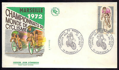 1972 Vintage FDC 1st day cover RACE bicycle: Cycling world championships FRANCE