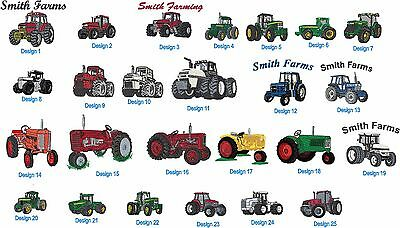 12 Heavyweight Preshrunk S-XL TShirts Embroidered Free4W Farm Tractor & Ur Name