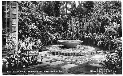 IDEAL HOME EXHIBITION 1954 - ROCK GARDEN  BY R.WALLACE & Co
