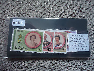 tokelau 1993 40th anniversary of coronation sg 197-200 4v MNH