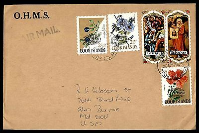 1973 Cook Islands Ohms Air Mail Easter Flowers Fdc First Day Cover