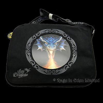 FIRE BREATHER Anne Stokes Age Of Dragons 3D Lenticular Gothic Art Messenger Bag