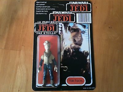 STAR WARS reproduction vintage Yak Face figure carded new tri logo LAST 17