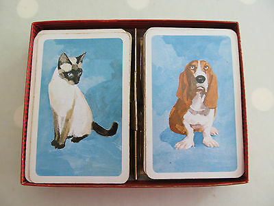 Vintage Playing Cards Of Cats And Dogs Two Decks By David Westnedge