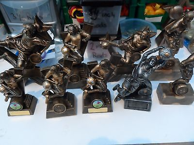 Joblot Of 10 - Female - Football - Trophies - Free Engraved Plates