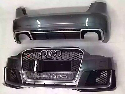 Audi S3 A3 To Rs3 8V Complete Front Bumper And Rear Diffuser 2013 To 2016