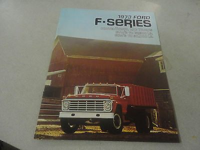 Rare 1973 FORD F-Series Conventional Cab Trucks Brochure