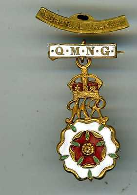 Q.m.n.g.(Queen Mary's Needlework Guild) Brass  Badge +Surgical Branch Bar