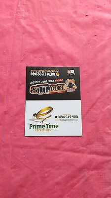 Bradford Bulls 2006 Used Rugby League Fixture Guide